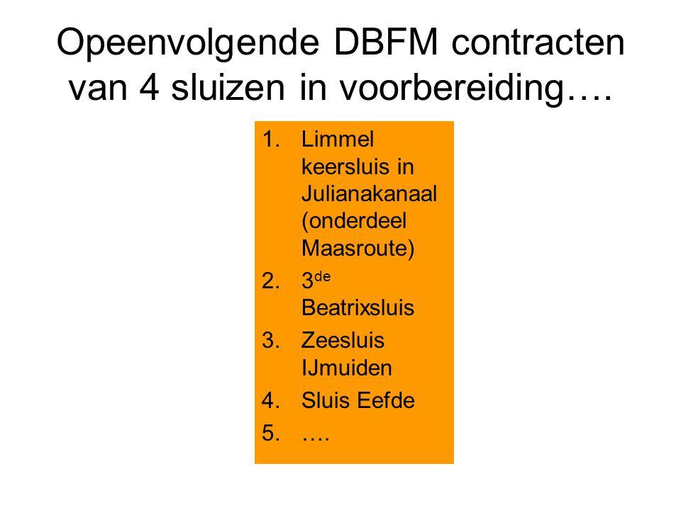 Opeenvolgende DBFM contracten van 4 sluizen in voorbereiding….
