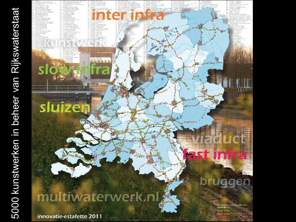 kaart 5000 kunstwerken in beheer van Rijkswaterstaat