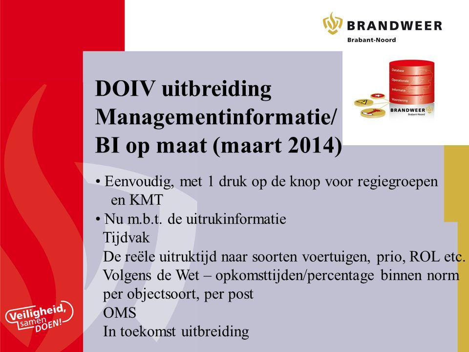 Managementinformatie/ BI op maat (maart 2014)