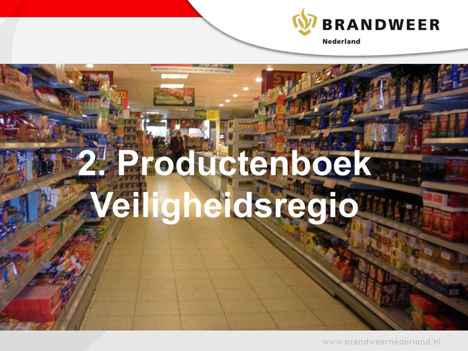 2. Productenboek Veiligheidsregio