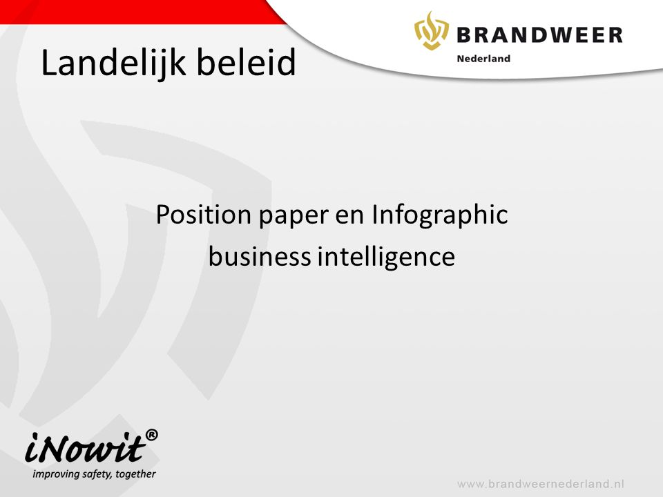 Position paper en Infographic business intelligence