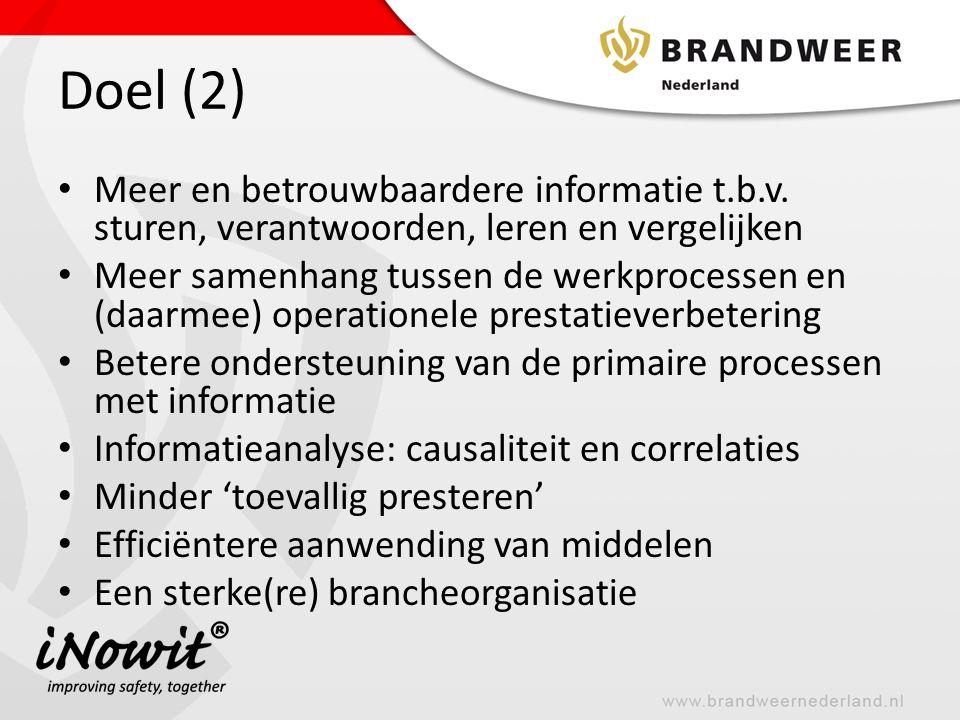 Doel (2) Meer en betrouwbaardere informatie t.b.v. sturen, verantwoorden, leren en vergelijken.