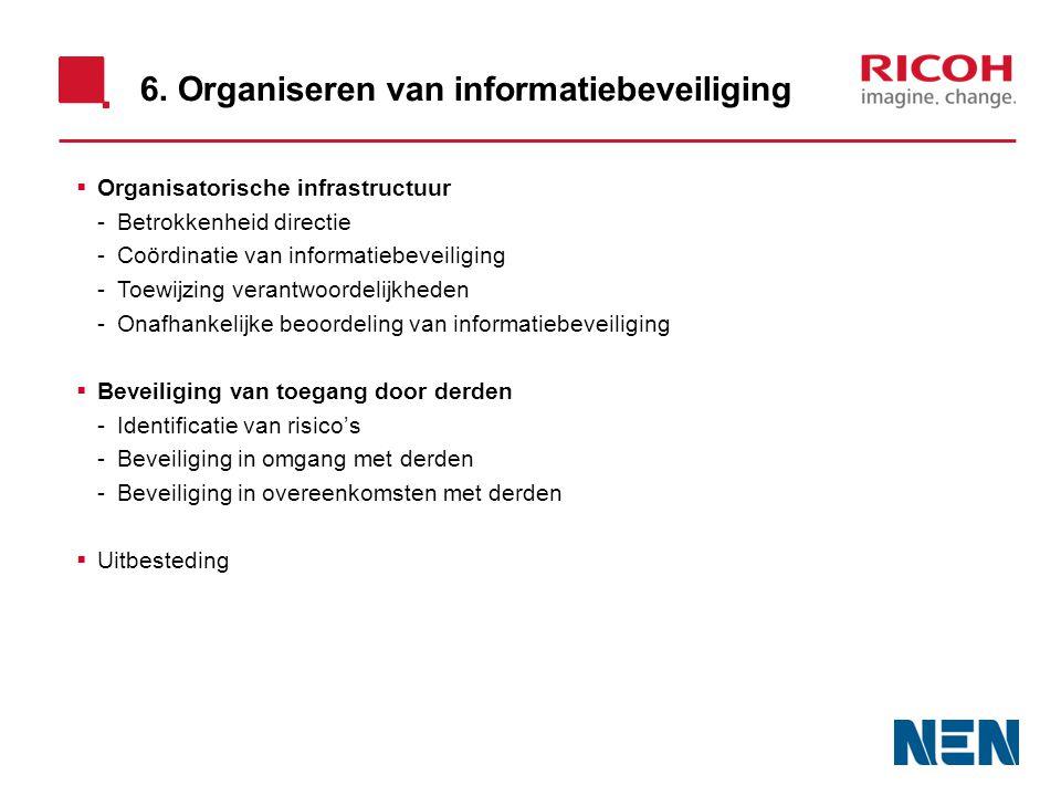 6. Organiseren van informatiebeveiliging