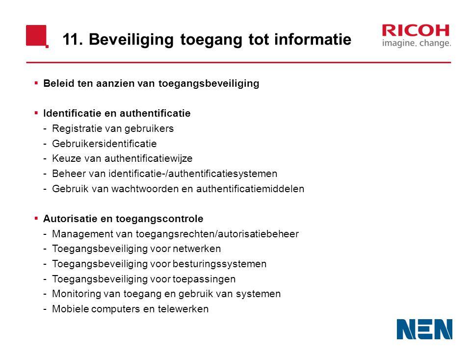 11. Beveiliging toegang tot informatie