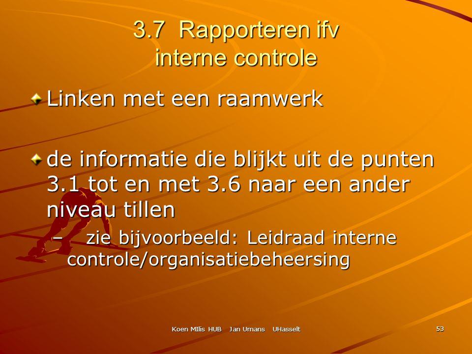 3.7 Rapporteren ifv interne controle