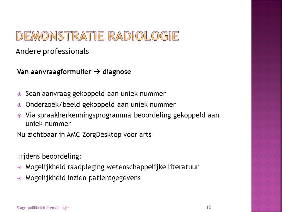 Demonstratie radiologie