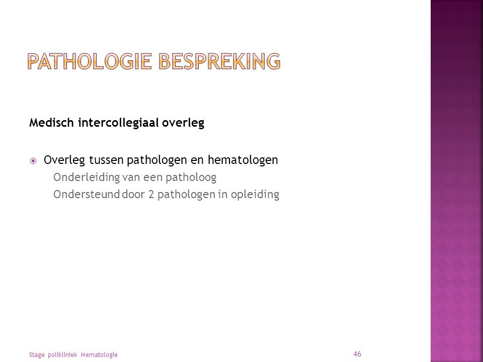 Pathologie bespreking