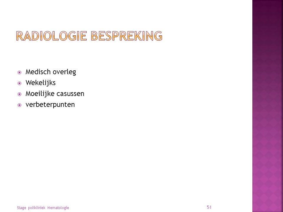 Radiologie Bespreking