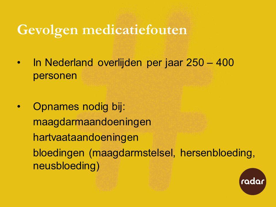 Gevolgen medicatiefouten