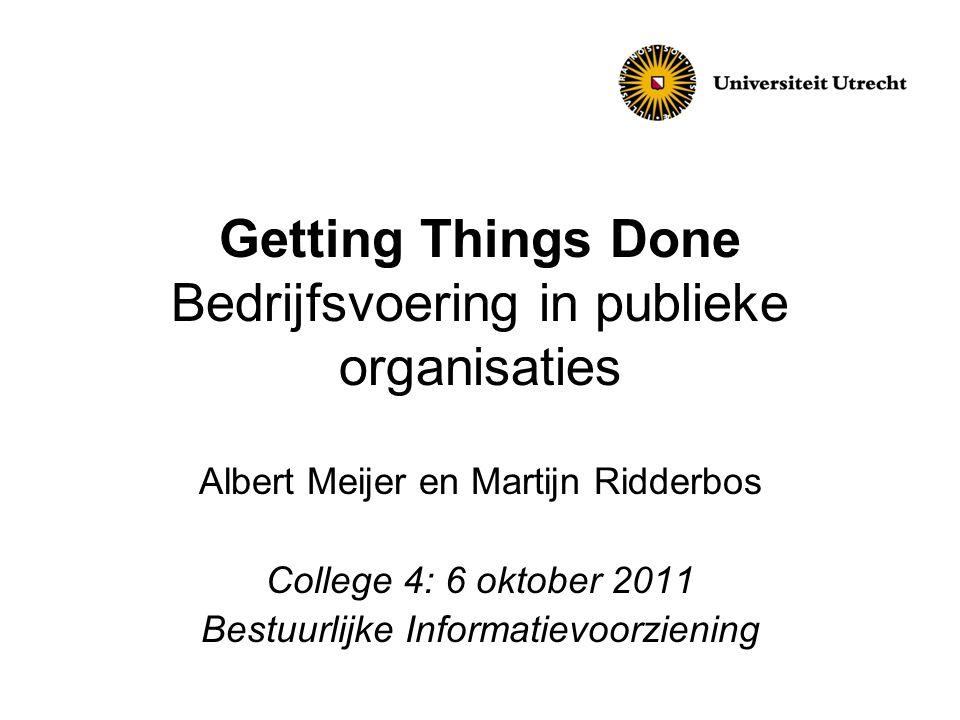 Getting Things Done Bedrijfsvoering in publieke organisaties