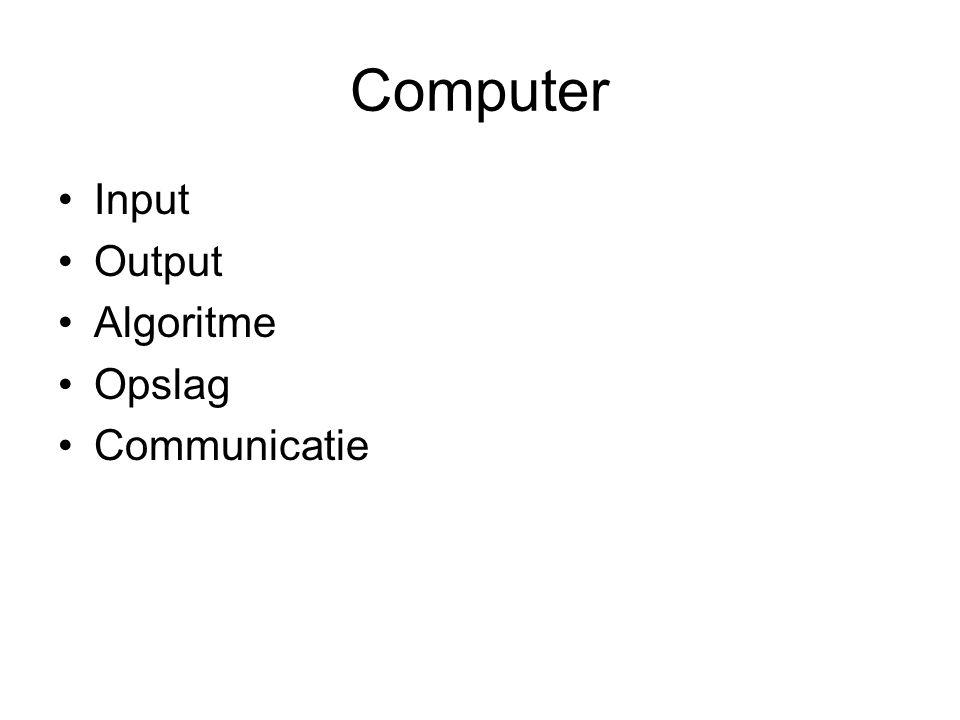 Computer Input Output Algoritme Opslag Communicatie