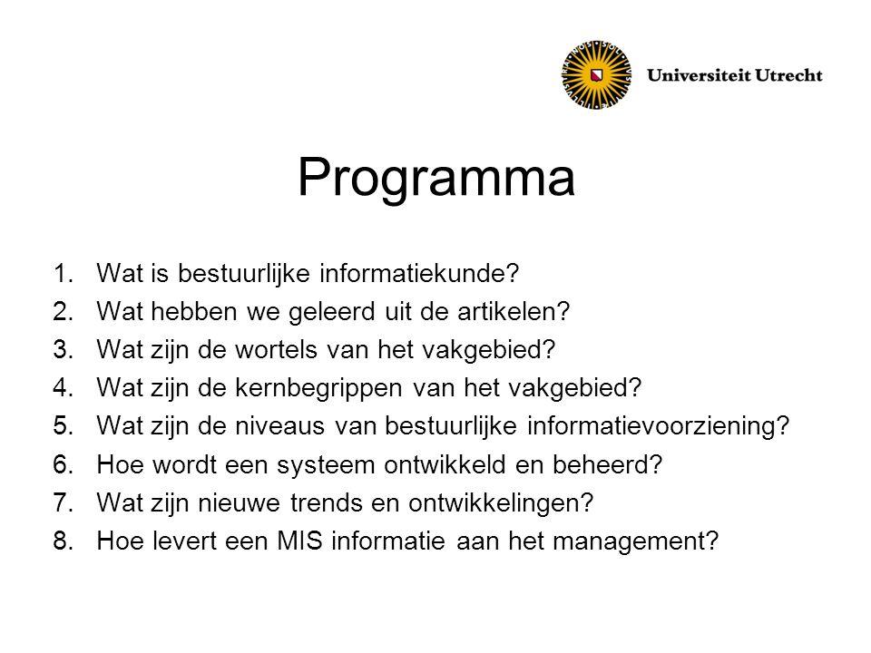 Programma Wat is bestuurlijke informatiekunde