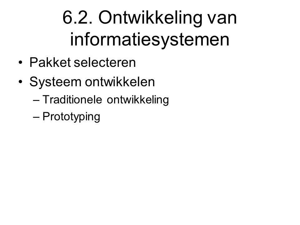 6.2. Ontwikkeling van informatiesystemen
