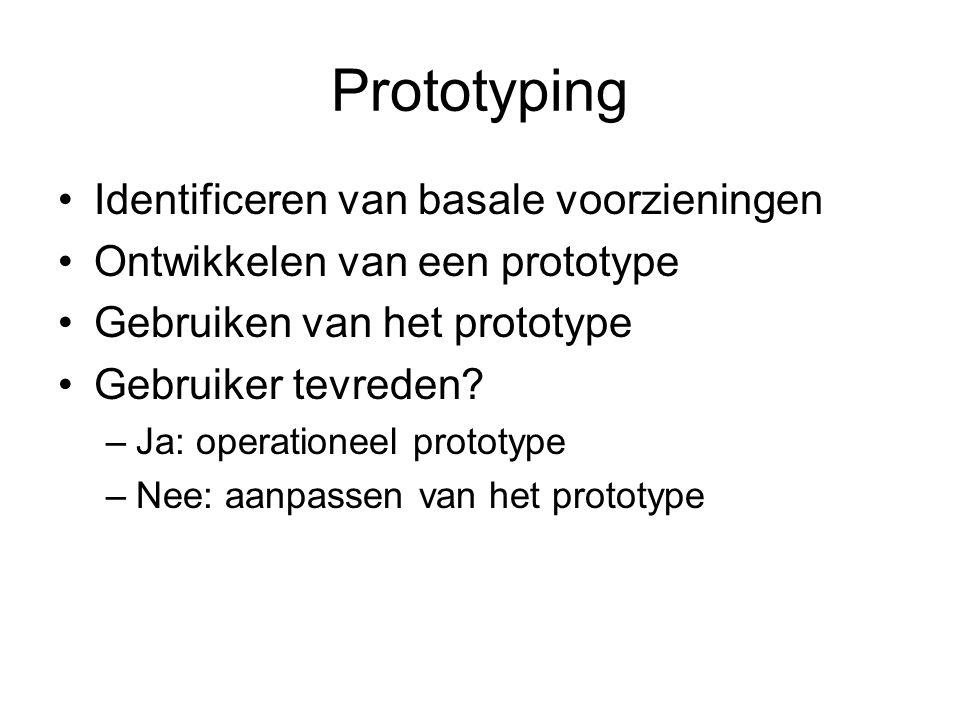 Prototyping Identificeren van basale voorzieningen