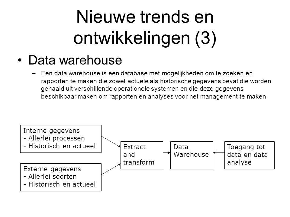 Nieuwe trends en ontwikkelingen (3)