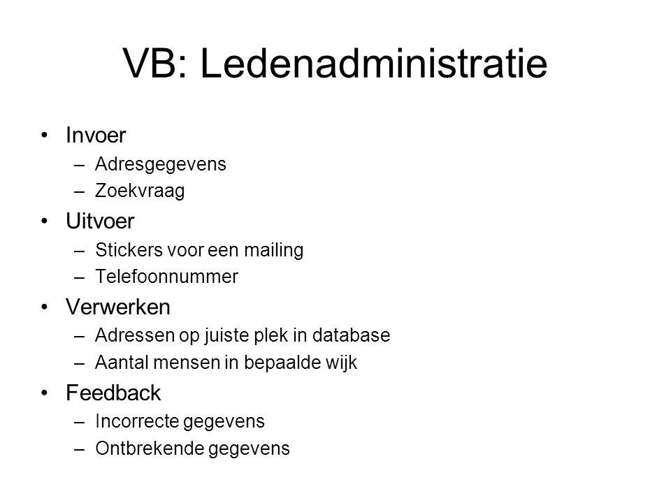 VB: Ledenadministratie