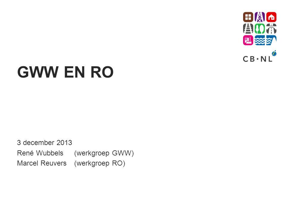 GWW EN RO 3 december 2013 René Wubbels (werkgroep GWW)