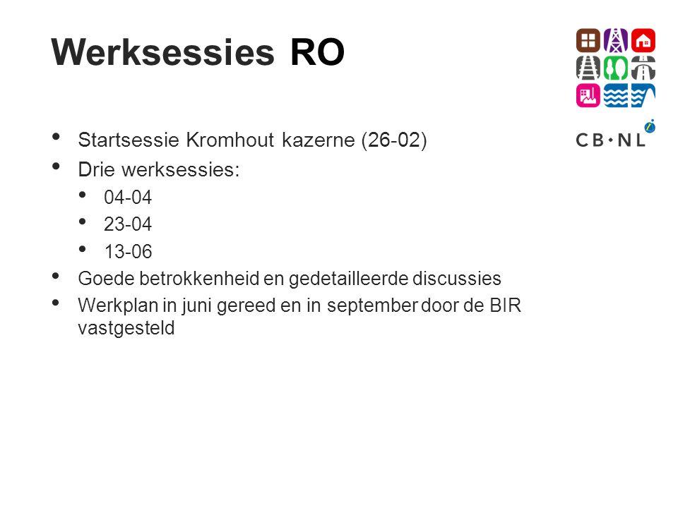 Werksessies RO Startsessie Kromhout kazerne (26-02) Drie werksessies: