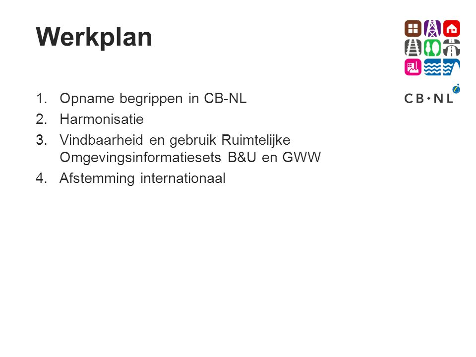 Werkplan Opname begrippen in CB-NL Harmonisatie