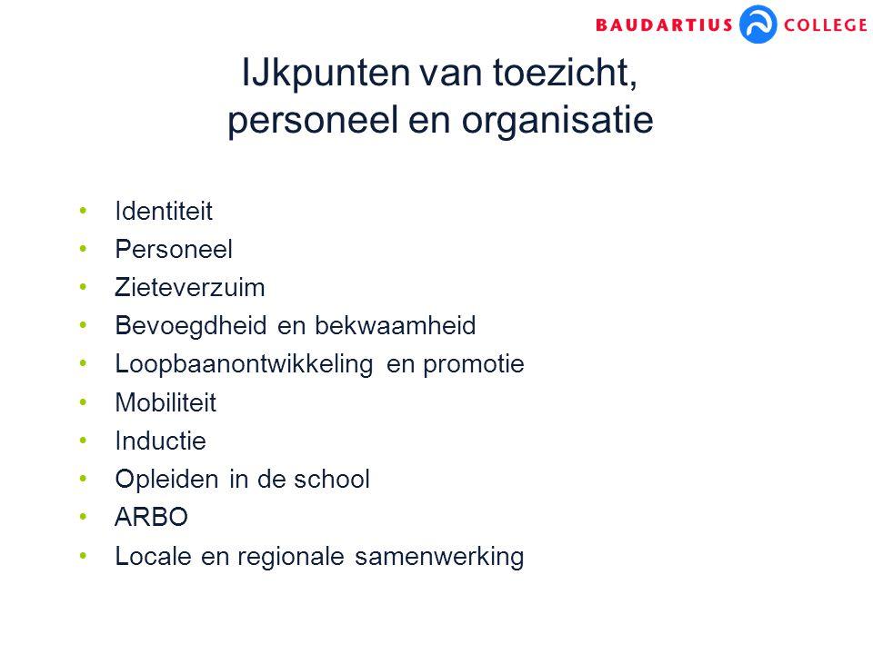 IJkpunten van toezicht, personeel en organisatie