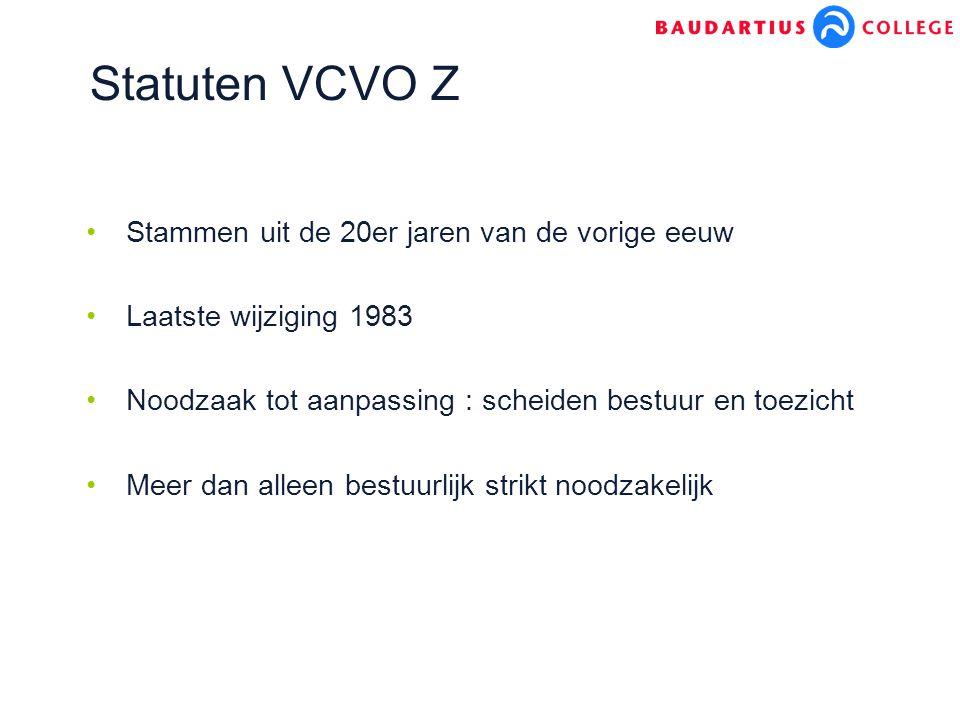 Statuten VCVO Z Stammen uit de 20er jaren van de vorige eeuw