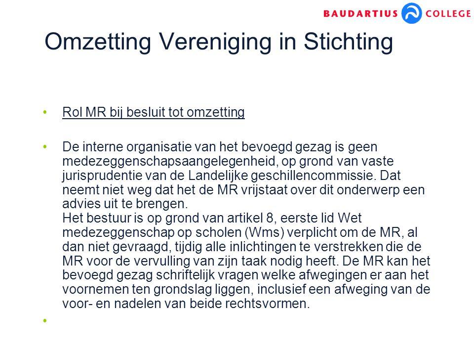 Omzetting Vereniging in Stichting