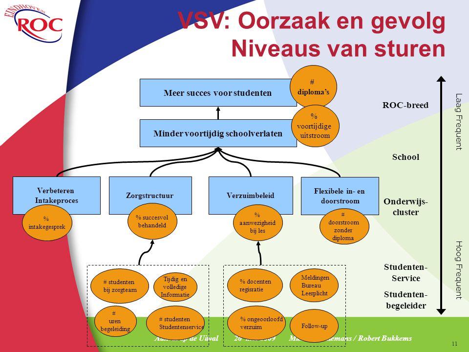 VSV: Oorzaak en gevolg Niveaus van sturen