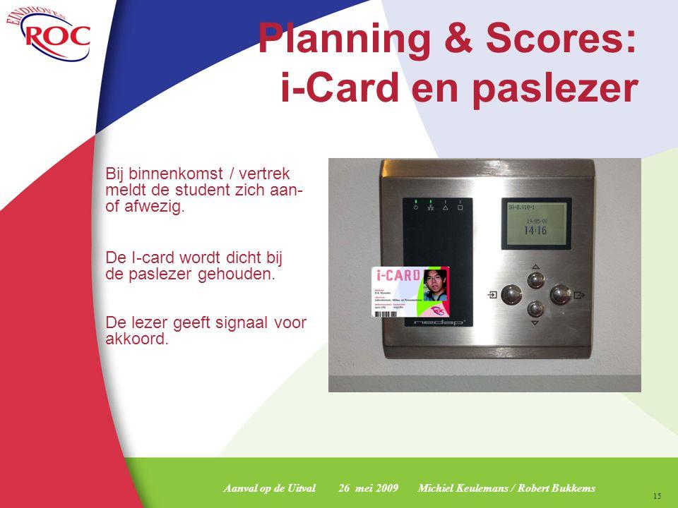 Planning & Scores: i-Card en paslezer