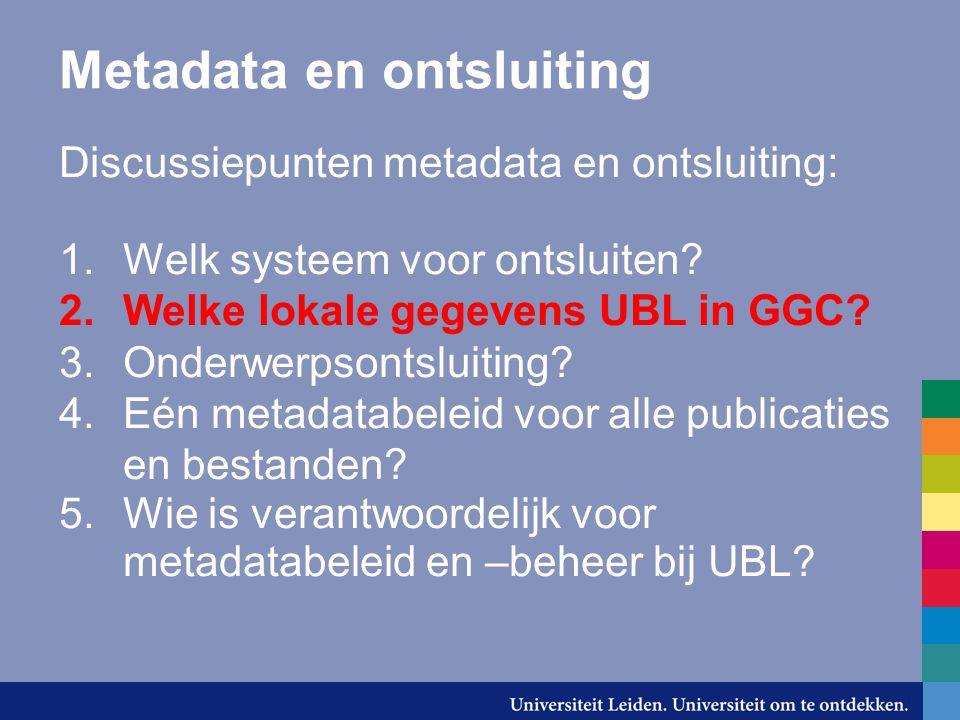 Metadata en ontsluiting