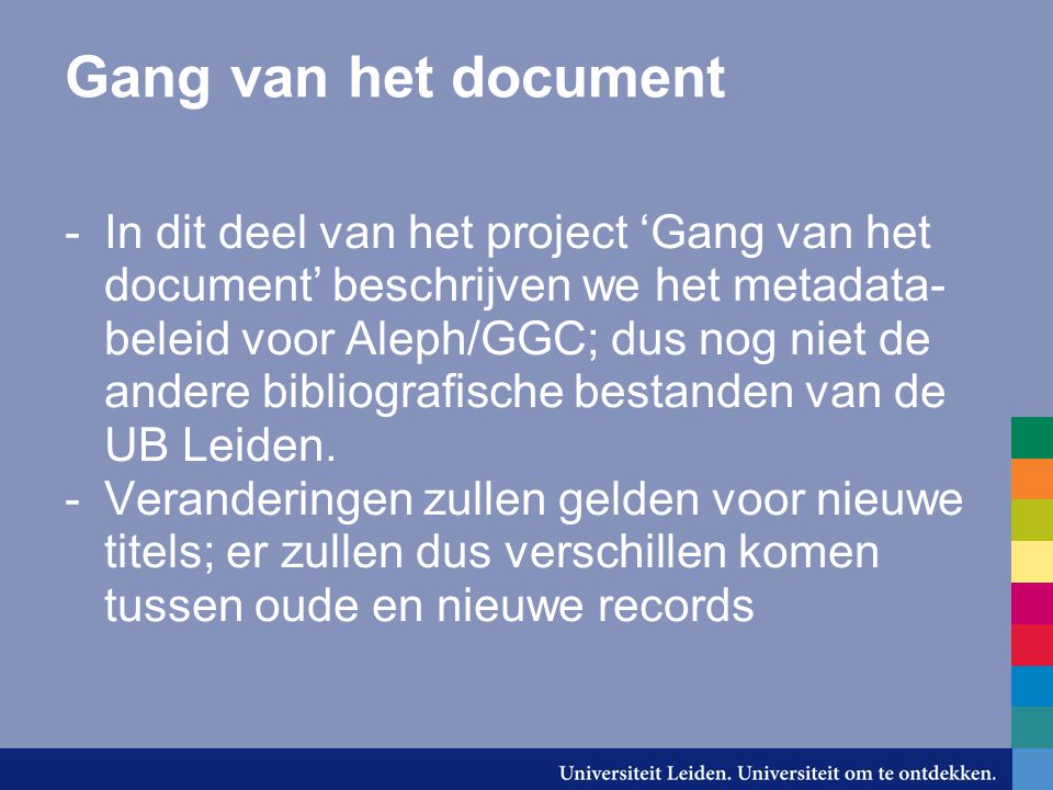 Gang van het document