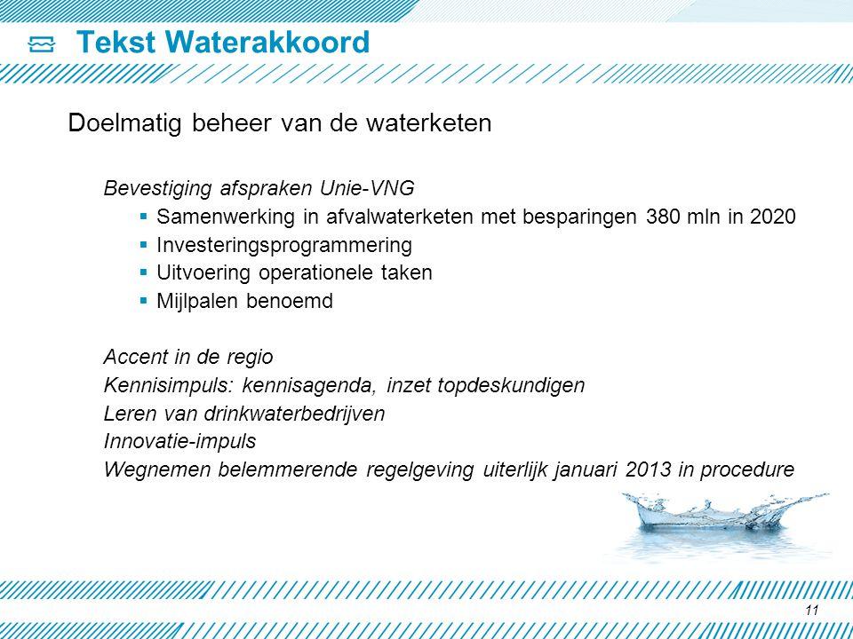 Tekst Waterakkoord Doelmatig beheer van de waterketen
