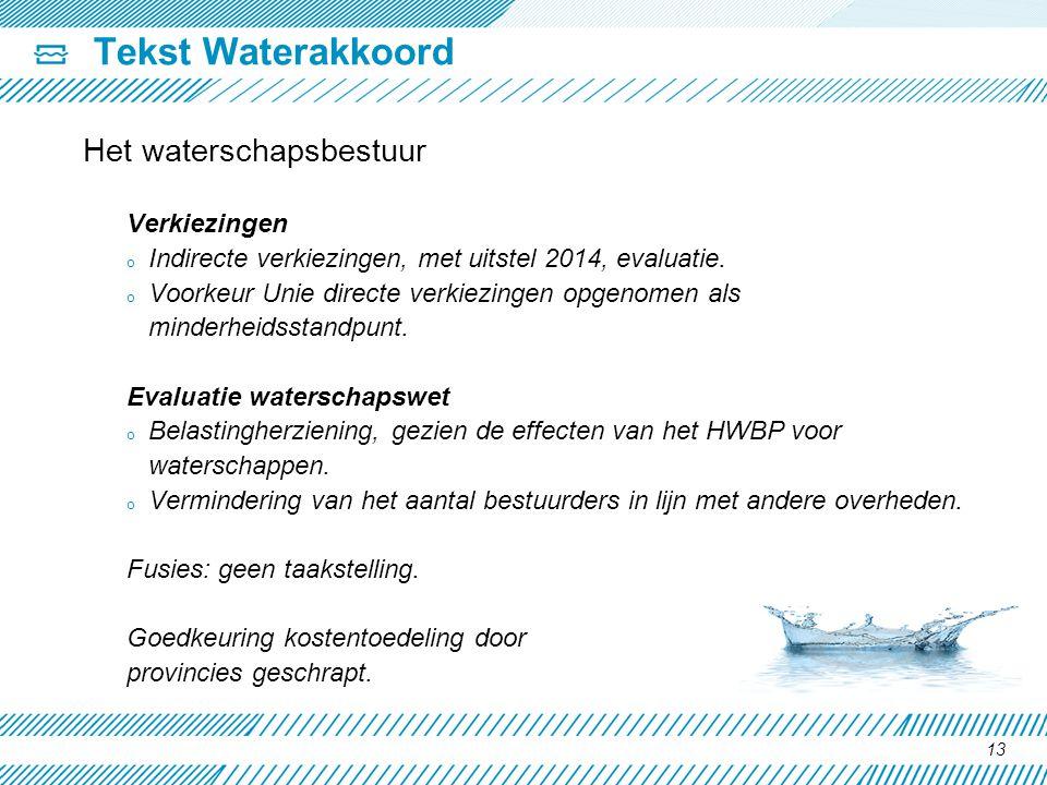 Tekst Waterakkoord Het waterschapsbestuur Verkiezingen