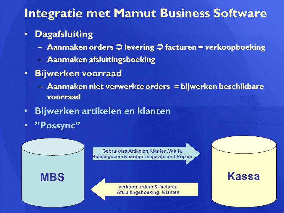 Integratie met Mamut Business Software
