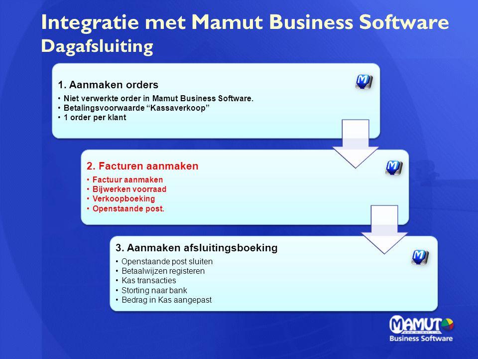 Integratie met Mamut Business Software Dagafsluiting