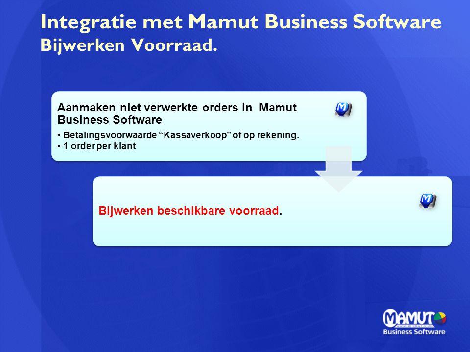 Integratie met Mamut Business Software Bijwerken Voorraad.