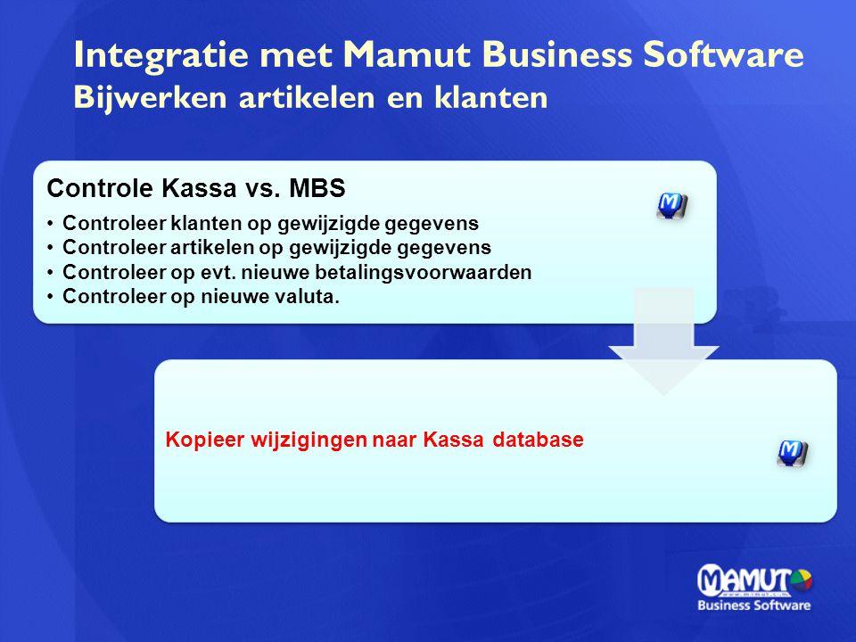 Integratie met Mamut Business Software Bijwerken artikelen en klanten