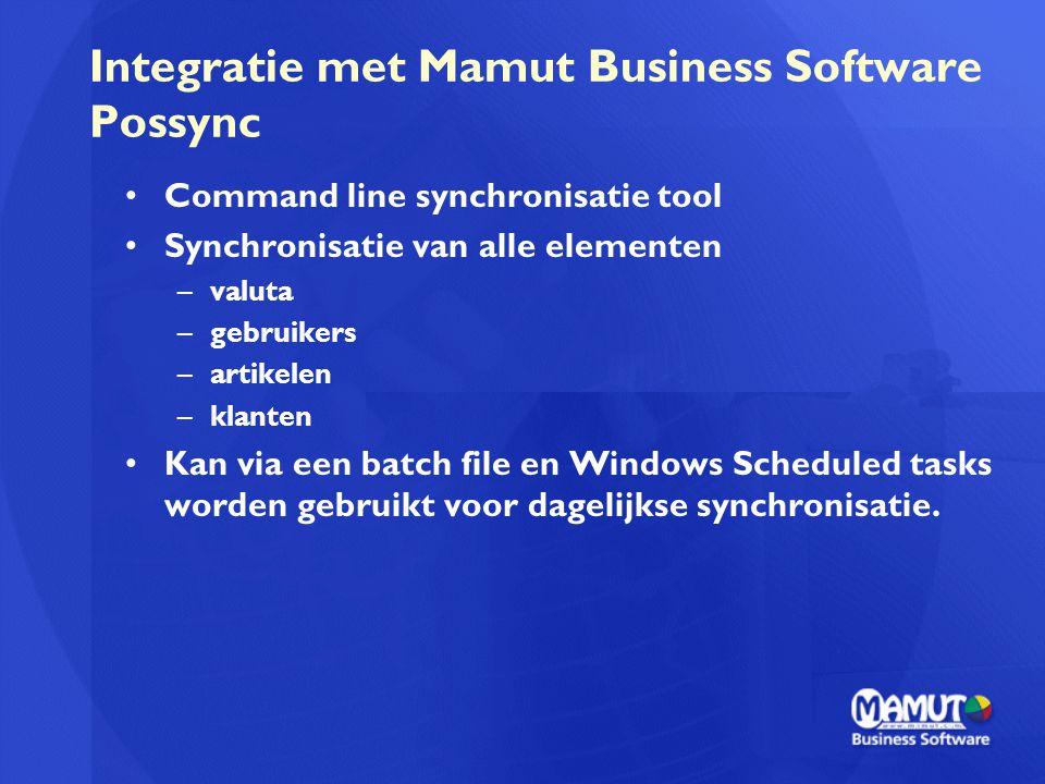 Integratie met Mamut Business Software Possync