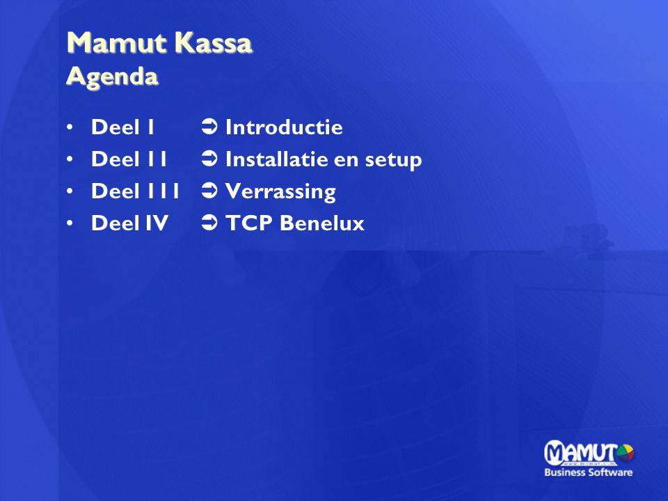Mamut Kassa Agenda Deel 1  Introductie Deel 11  Installatie en setup