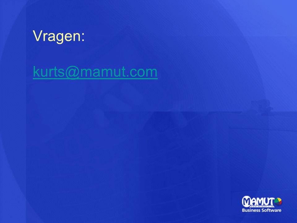 Vragen: kurts@mamut.com