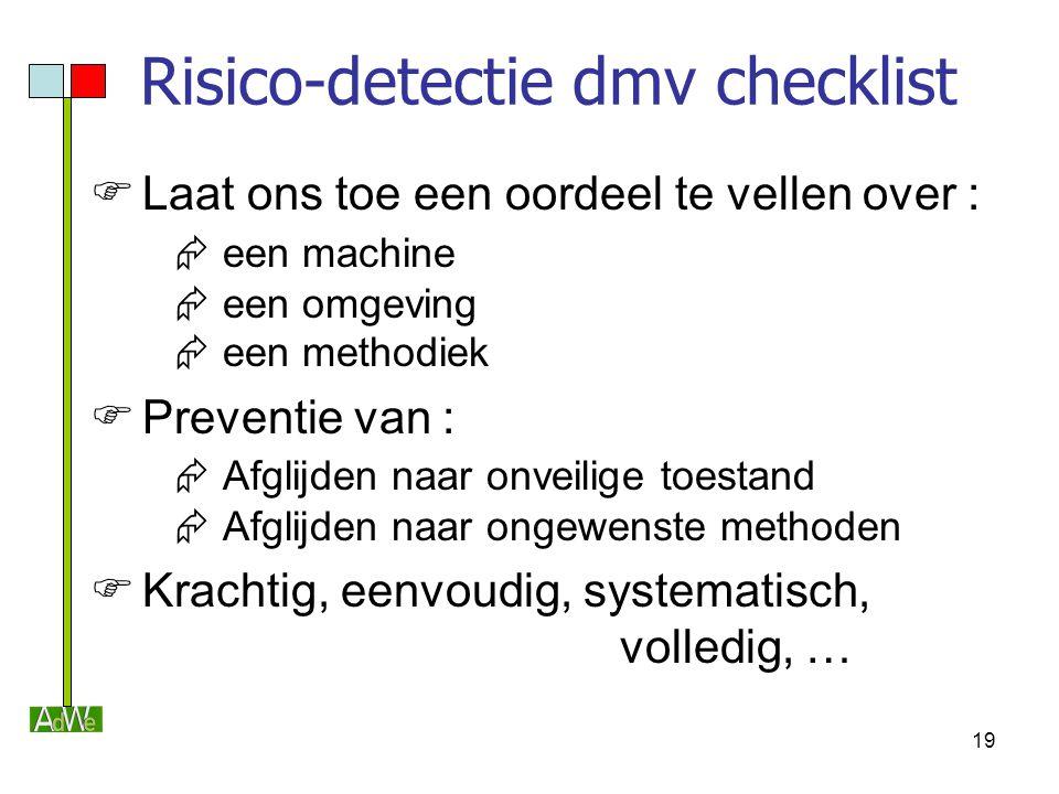 Risico-detectie dmv checklist