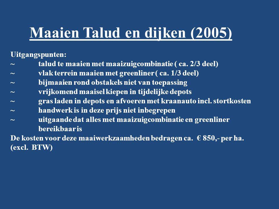 Maaien Talud en dijken (2005)