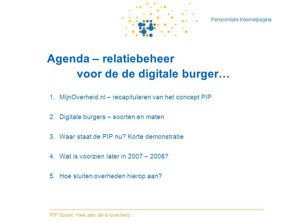 Agenda – relatiebeheer voor de de digitale burger…