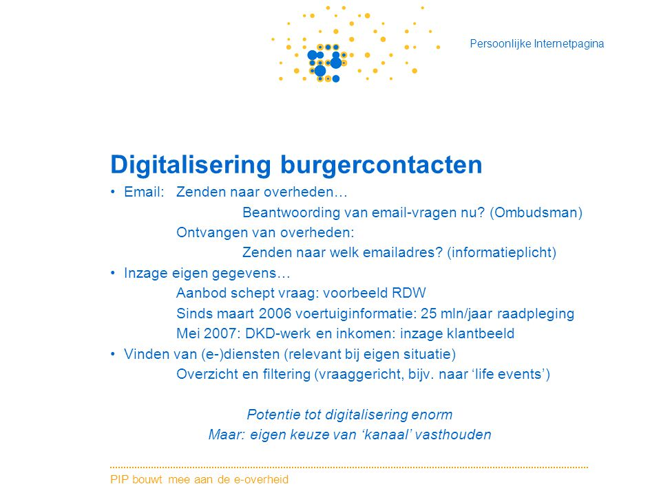 Digitalisering burgercontacten