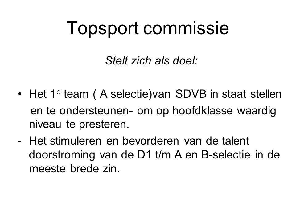 Topsport commissie Stelt zich als doel: