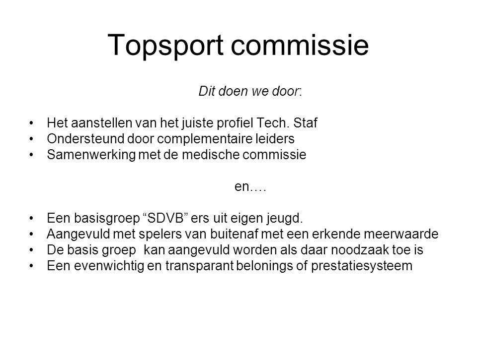 Topsport commissie Dit doen we door: