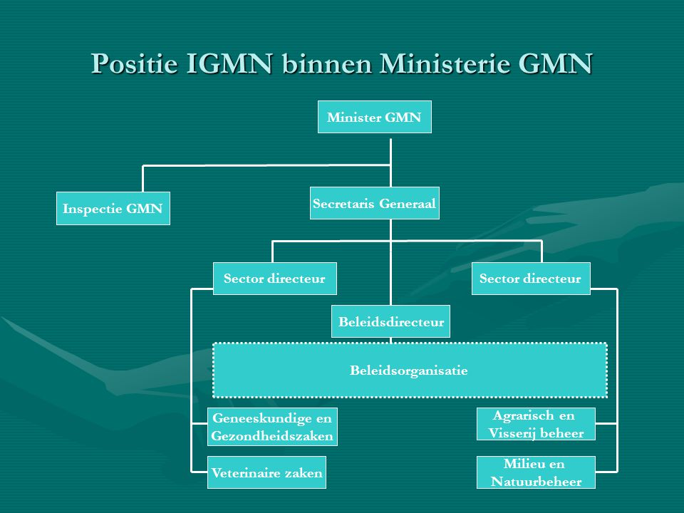 Positie IGMN binnen Ministerie GMN