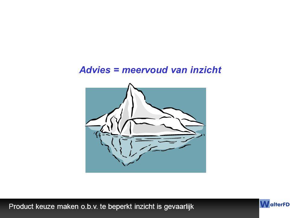 .Advies = meervoud van inzicht