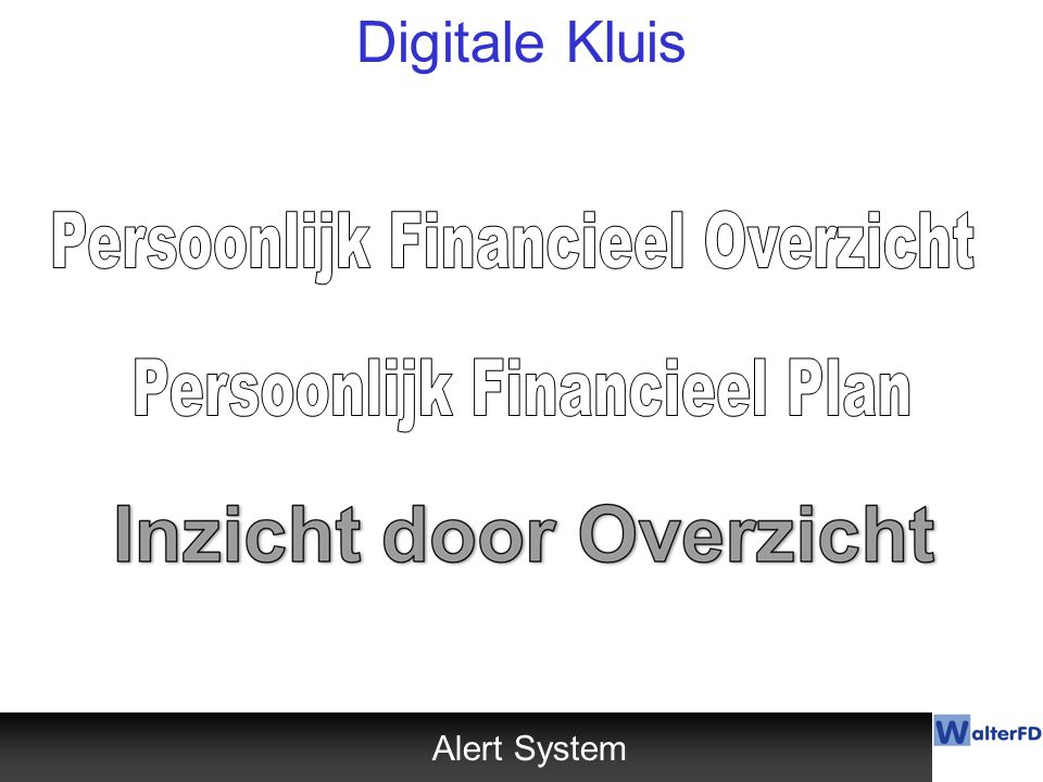 Digitale Kluis Persoonlijk Financieel Overzicht