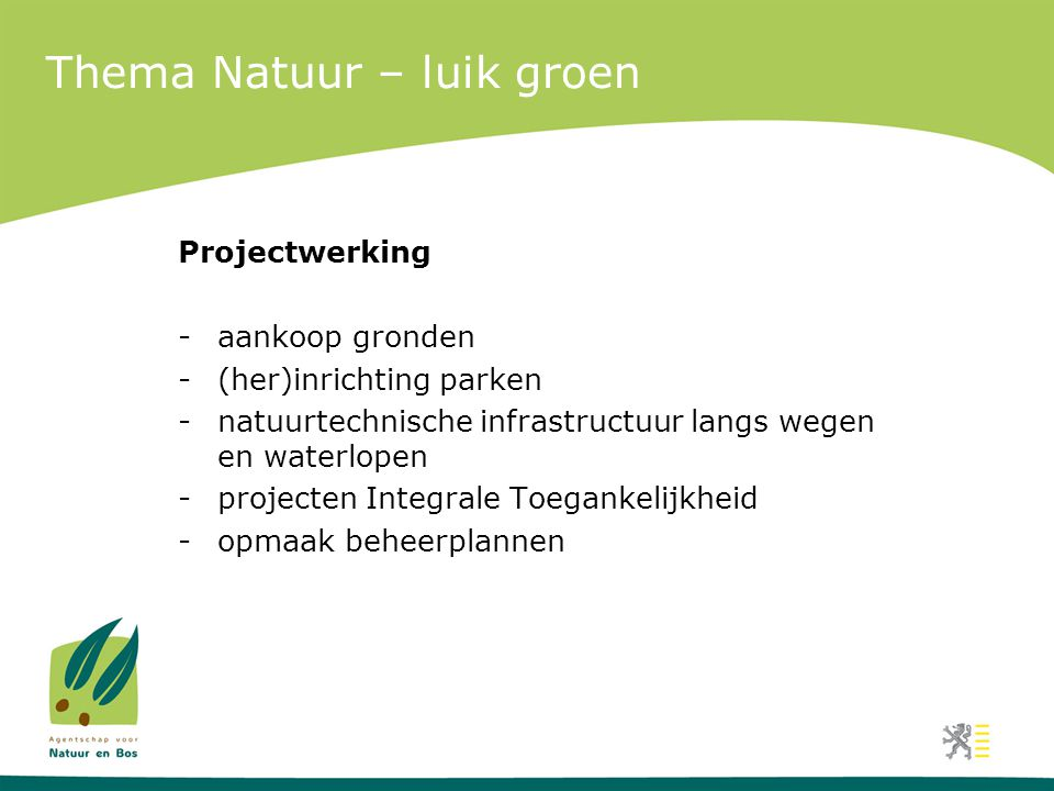 Thema Natuur – luik groen