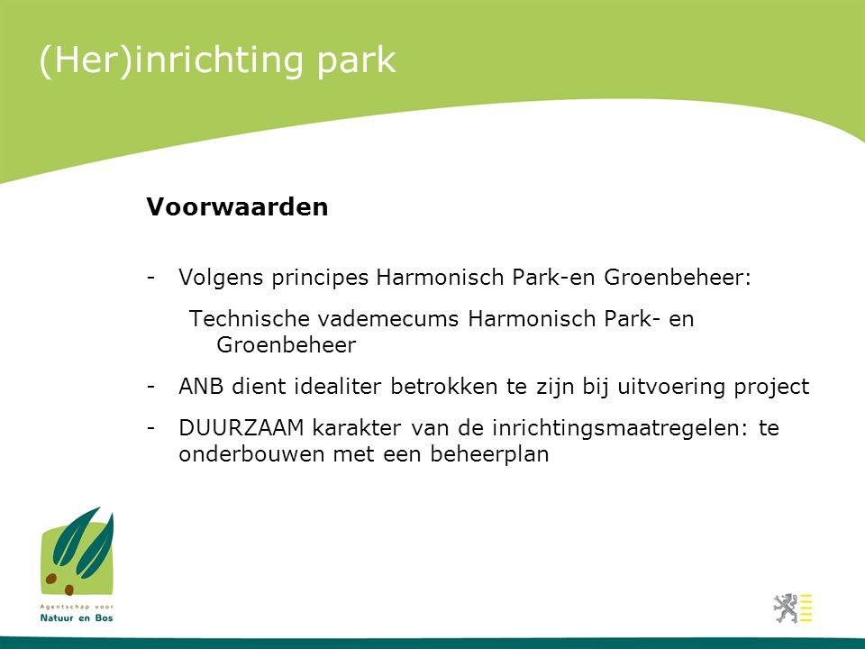 (Her)inrichting park Voorwaarden